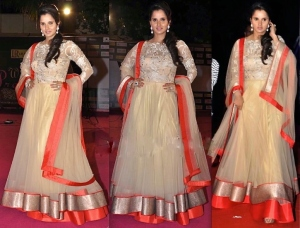 Sania-Mirza-At-Prerna-Awards-2013-In-Shantanu-And-Nikhil